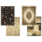 "Transitional Floral Area Rug 8x11 Casual Vines Scrolls Carpet -Actual 7'8""x10'4"""