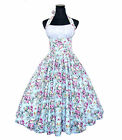 Vintage Dancing Party Swing Jive Rockabilly Dress Skirt Retro 50s Floral Cotton