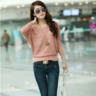 2014 New Womens Fashion Thin Hollow Bat Loose Knitting Sweater Tops One Size