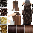 Straight Curly 3/4 full head brown black blonde hair Clip in on Hair Extensions