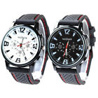 New Rubber Band Fashion Business Men Army Outdoor Sport Silicone  Watches