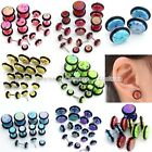 5pair Mixed 4-10mm Acrylic Colorful Spots Barbell Fake Cheater Ear Plug Earrings