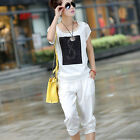 Lady's Casual Suits T-Shirt + Shorts Cotton New  Summer Shirts Pants UN0001