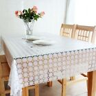 1Pcs Waterproof Tablecloth Table Cover Home Decor 4 sizes White & Yellow ZHT070