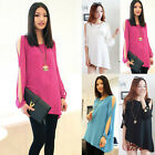 FREE SHIP Cool~Off Shoulder Loose Batwing T-Shirt SOFT Chiffon Tops Blouse Shirt