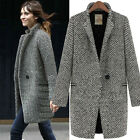Fashion Womens Woolen Clothing Lapel Windbreaker Amazing Trench Coat Jacket Z379