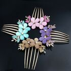 Crystal Women Lily Flower Rhinestone Hair Pin Clips Barrette Comb hairpin Bridal