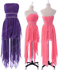 Purple/Pink Asymmetric Ballgown Lady Bridesmaid Prom Evening Party Pageant Dress