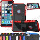 Dual Layer Shock Proof Hybrid Grip Hard Kick Stand Case Skin For iPhone 5S, 5