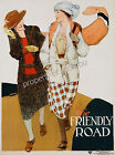 Vintage Ladies Fashion Art ad print poster, large 4 sizes available