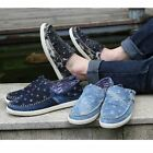 New Arrival Men's Fashion Causal Shoes Demin Jeans Sneaker Canvas Slip-On XMR032