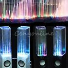 2X LED Music Fountain Dancing Water Light Speakers For iPhone iPad Laptop MAC PC