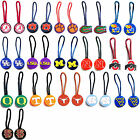 zipper pull pet id luggage bag tag NCAA Pick your team