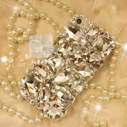 Big Clear Crystal Bling Rhinestone Gem Hard Skin Case Cover For Samsung / iPhone