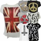 New Ladies Plus Size Funky Cross Leopard Peace Stretch Tee Shirts Tops 16-26