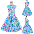 Vintage Retro Dancing Dress Party Prom Swing Jive Rockabilly 50s 60s Skirt Polka