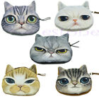 Children Cat Face Cute Zipper Case Coin Kids Purse Wallet Makeup Bag Pouch Mini
