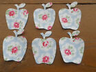 Cath Kidston Fabric IRON ON APPLES x 6. Choice of fabrics Applique  Sewing