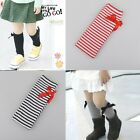 Hot New Kids Girls Cotton Bow Soft Knee High Socks 2-8Y Stripe Leggings
