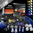 55W HID Xenon Bi-xenon Conversion Kit Slim Ballast + Bulbs Car lamps Headlight