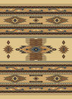 SOUTHWESTERN berber BEIGE native AMERICAN carpet RUSTIC lodge STRIPED area RUG
