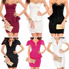 Ladies Sexy Mini Dress Cocktail Evening Dress Clubbing Dress Size 8 10 12 14