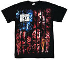 New AMC The Walking Dead Walker Flag Montage Adult T-Shirt Zombies Tee