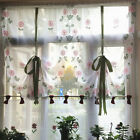 New Arrival Pastoral Daisy Print Lifting Curtain Voile Home Kitchen Curtain