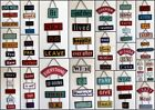 Shabby Chic Vintage/Retro Metal Hanging Chain Wall Plaque Signs