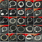 Free P&PSpecial offer wholesale silver jewelry chain bracelets bangle + Gift box