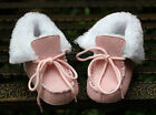 Baby Girl Pink Faux Fur Lined Boots Pram Snow Shoes Size Newborn to 18 Months