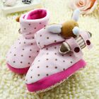 Toddler Infant Baby Boy Girl 3D Cartoon Pink Snow Boots Crib Shoes 0-18Months/K6