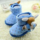 Toddler Infant Baby Boy Girl 3D Cartoon Blue Snow Boots Crib Shoes 0-18Months/K7