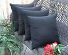"""Set of 4 Pillow Covers - 17"""" Indoor / Outdoor - Choice of Solid Color"""