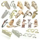 1pcs Women's Casual Multi-style Golden&Silver Ring Plated Zinc Alloy Rings