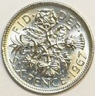 Coin Tie Pin - British Sixpence Tie Pin or Stud Your Choice of Date 1947 to 1967