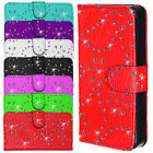 Apple iPhone 4 4S 5 5S Housse en cuir pour wallet devise strass bling