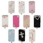 Pretty 3D Rhinestone PU Wallet Flip Stand Case Cover For Samsung Galaxy S4 i9500