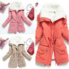 Women Warm Winter Outwear Big Collar Fur Inside Thickening Coat Zipper & Button