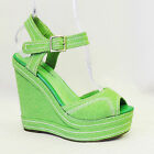 NOS True Vintage 1970's does 1940's Pin up Platform Wedge Heel Peep Toe Sandals