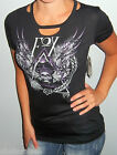 NWT Sexy FOX RACING RIDERS WINGED SKULL T Shirt CUT OUT Top OPEN BACK S M L XL