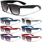 Polka Dot Retro Men Women Sunglasses Black White Red Flex Fi