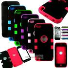 Hard & Soft Rubber High Impact Armor Case Hybrid Cover For iPod Touch 5 5th Gen