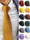 Simple Fashion  Men Skinny Solid Color Knit Knitted Wedding Party Tie Hot Sale
