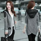 Splicing Ladies Long Sleeve Casual Knit Cardigan Sweater Coat Knitwear Jacket