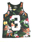 KONFLIC FLORAL PRINT VACATIONS TANK TOP SHIRT SUN OUT GUNS OUT URBAN MENS