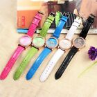 New Lady's Leather Strap Rose Flower Watch Women's Rhinestone Watches Fashion
