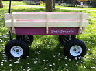 PINK wagon, trailer, ride pull along, retrocart, festival cart, flyer, wagen