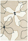 STYLISH MODERN HARLEQUIN DESIGN CLEMATIS  BEIGE CHEAP AND BEST COST RUGS