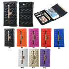 Fashion Quadrilateral Bow PU Wallet Flip Full Body Case Cover For iPhone 5 5G 5S